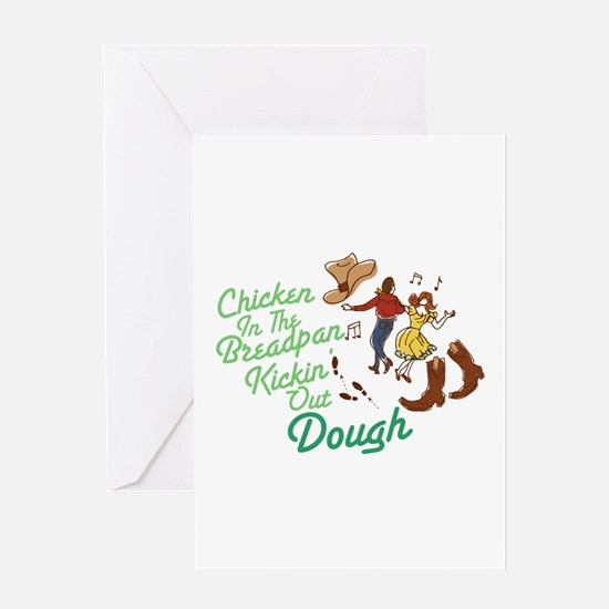 Chicken In Breadpan Greeting Cards