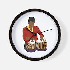 Indian Tabla Wall Clock