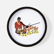 Music of India Wall Clock