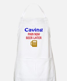 Caving Pain now Beer later Apron