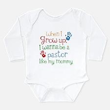 Pastor Like Mommy Long Sleeve Infant Bodysuit