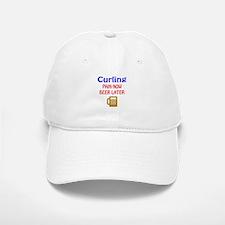 Curling Pain now Beer later Baseball Baseball Cap