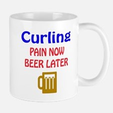 Curling Pain now Beer later Mug
