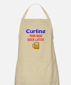Curling Pain now Beer later Apron