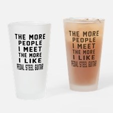 I Like More Pedal Steel Guitar Drinking Glass
