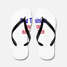 Dog Training Pain now Beer later Flip Flops