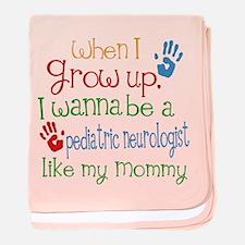 Pediatric Neurologist Like Mommy baby blanket