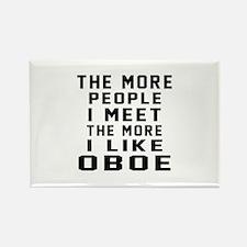 I Like More Oboe Rectangle Magnet