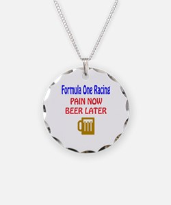 Formula one racing Pain now Necklace