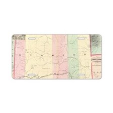 Vintage Map of Wyoming (187 Aluminum License Plate