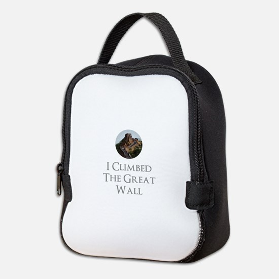 I Climbed The Great Wall Neoprene Lunch Bag