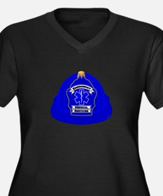 Traditional Fire Department Helm Plus Size T-Shirt