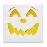 Happy Pumpkin Face Tile Coaster