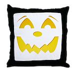 Happy Pumpkin Face Throw Pillow