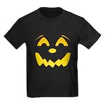 Happy Pumpkin Face Kids Dark T-Shirt