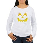 Happy Pumpkin Face Women's Long Sleeve T-Shirt