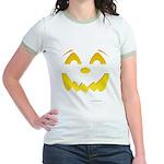Happy Pumpkin Face Jr. Ringer T-Shirt