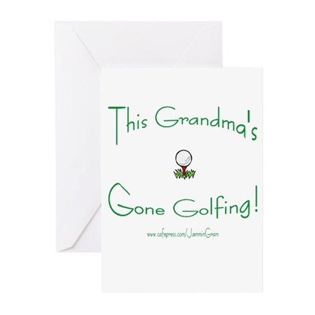 GRANDMA GONE GOLFING Greeting Cards (Pk of 10)