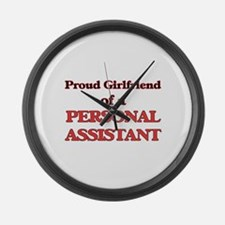 Proud Girlfriend of a Personal As Large Wall Clock