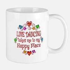 Line Dancing Happy Place Mug