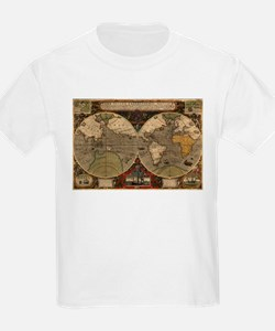 Vintage Map of The World (1595) T-Shirt