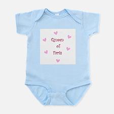 Queen of Hearts Queen of Farts Infant Bodysuit
