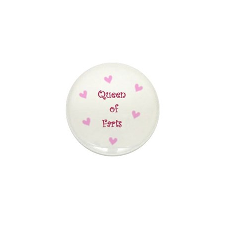 Queen of Hearts Queen of Farts Mini Button (100 pa