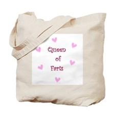 Queen of Hearts Queen of Farts Tote Bag