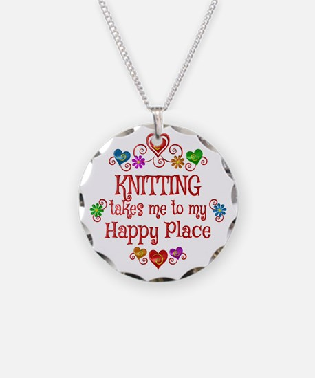 Knitting Happy Place Necklace