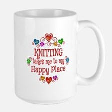 Knitting Happy Place Mug