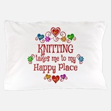 Knitting Happy Place Pillow Case
