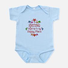 Knitting Happy Place Infant Bodysuit