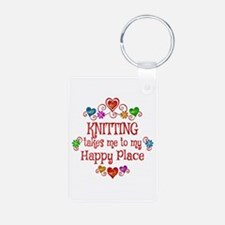 Knitting Happy Place Keychains