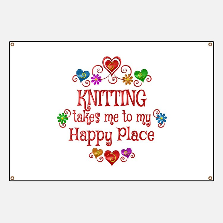 Knitting Happy Place Banner