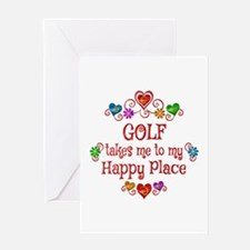 Golf Happy Place Greeting Card
