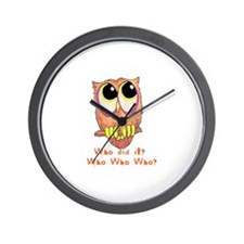 Owl Who did it? Wall Clock