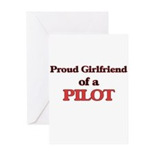 Proud Girlfriend of a Pilot Greeting Cards