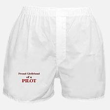 Proud Girlfriend of a Pilot Boxer Shorts