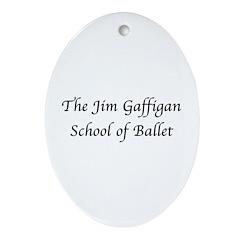 JG SCHOOL OF BALLET Oval Ornament