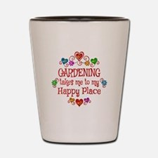 Gardening Happy Place Shot Glass
