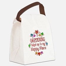 Gardening Happy Place Canvas Lunch Bag