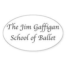 JG SCHOOL OF BALLET Oval Sticker