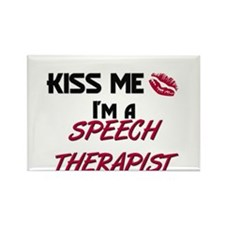 Kiss Me I'm a SPEECH THERAPIST Rectangle Magnet