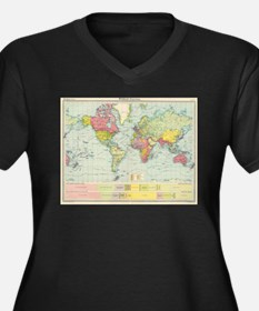 Vintage Political Map of The Wor Plus Size T-Shirt
