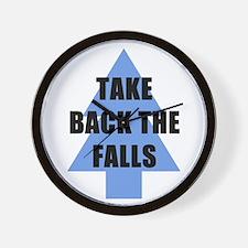 Take Back the Falls Wall Clock
