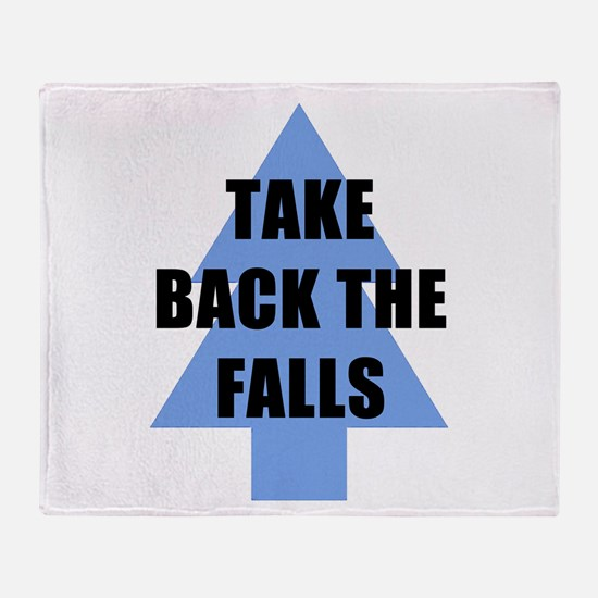 Take Back the Falls Throw Blanket