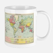 Vintage Political Map of The World (1922) Mugs