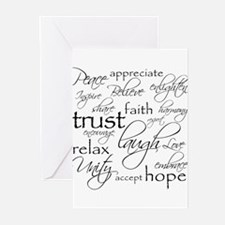 Funny Faith hope and love Greeting Cards (Pk of 10)
