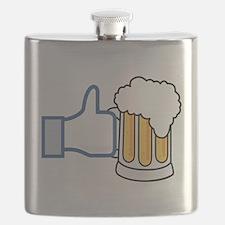 Like Beer Social Parody Flask