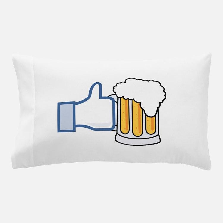 Like Beer Social Parody Pillow Case